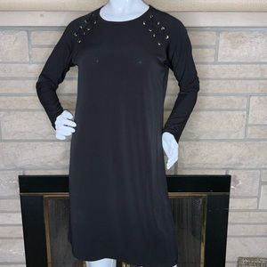 👗NWT Michael Kors Black Dress Laced-Up Accents👗